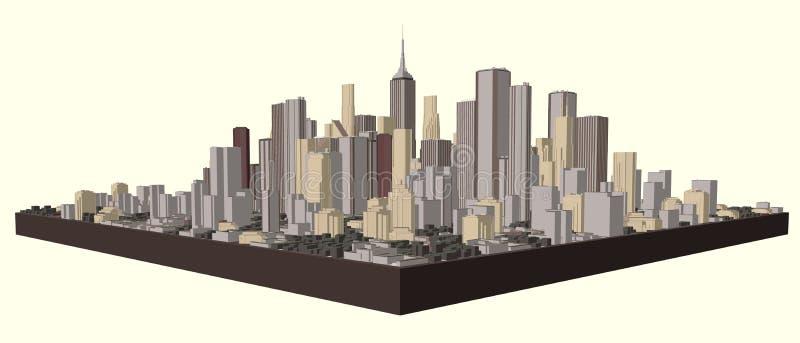 3D城市模型  r 皇族释放例证