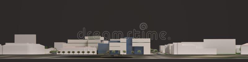 3D城市环境的图表 季度 皇族释放例证