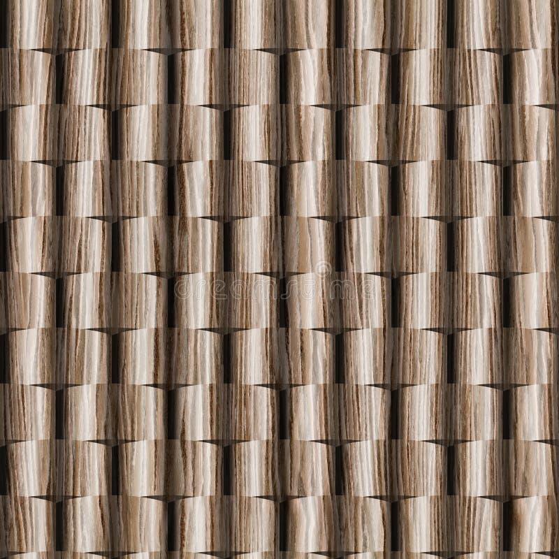 3D墙壁装饰瓦片,木纹理,装饰铣板样式 免版税库存图片