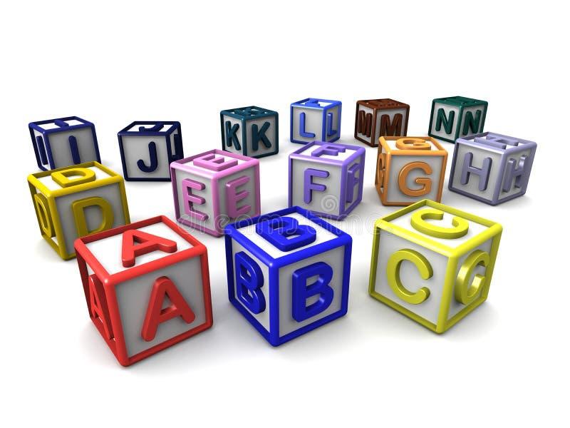 信件立方体 库存例证