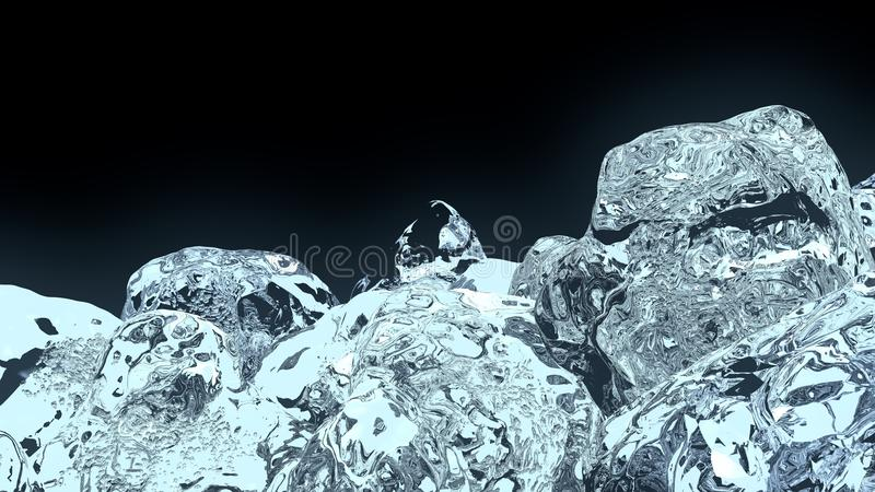 3d多维数据集冰 库存照片