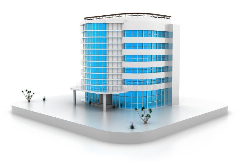 3D大厦设计 皇族释放例证
