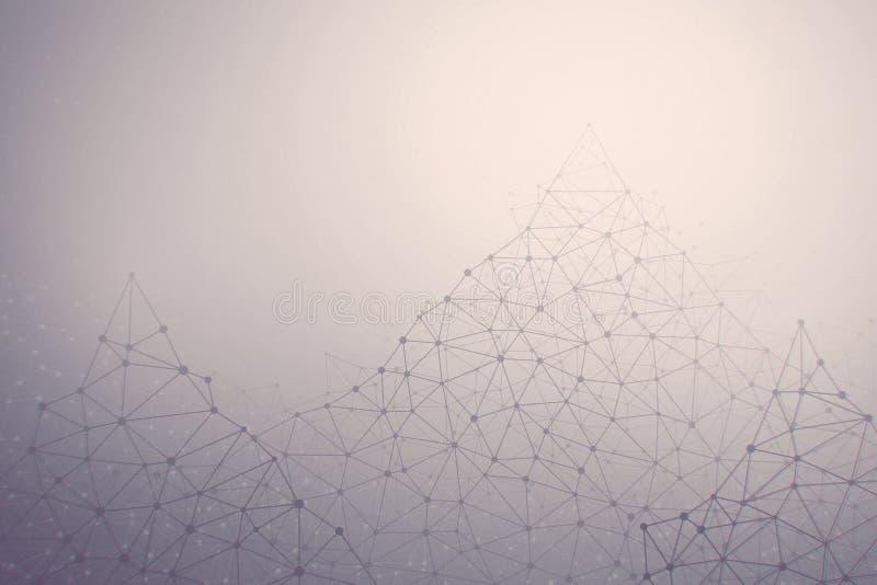 3D大数据连接构造抽象背景 皇族释放例证