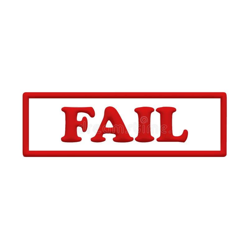 3D失败邮票 向量例证