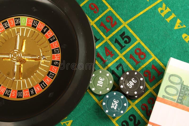 3d娱乐场图象被回报的轮盘赌 库存图片