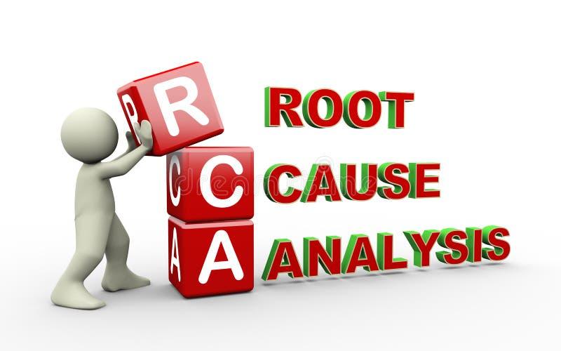 3d安置rca立方体的人 向量例证