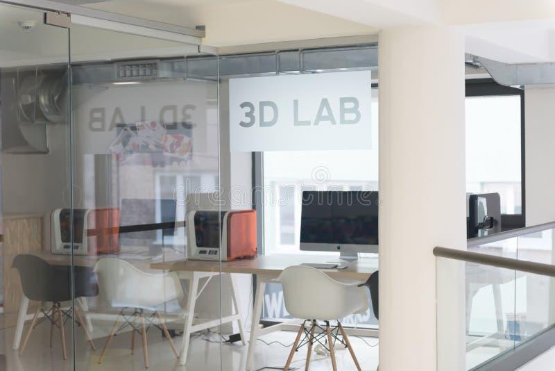 3D实验室 免版税库存照片