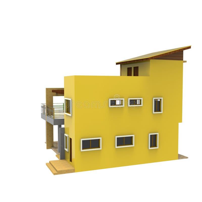 3D家庭空间设计  向量例证