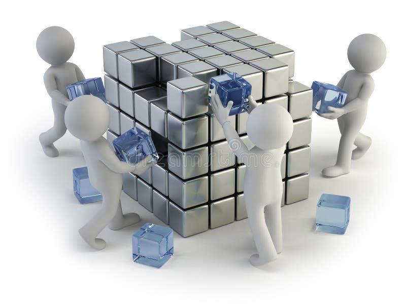 3d小人民-创造的概念 向量例证