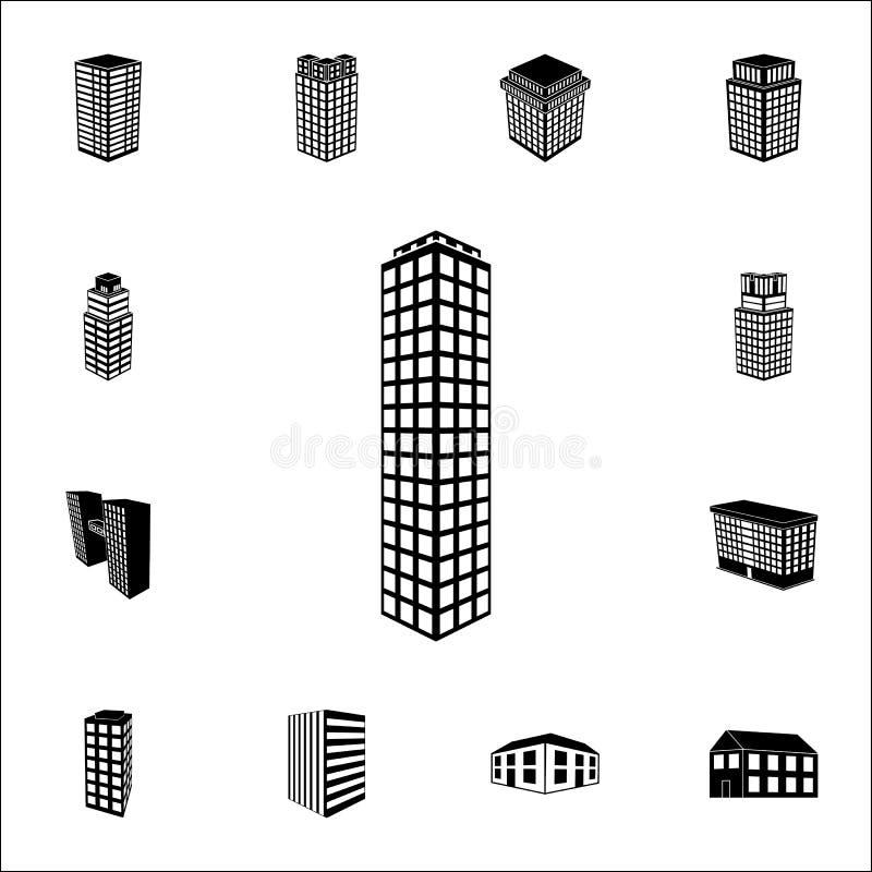 3d居民住房象的例证 3d网和机动性的大厦象全集 皇族释放例证
