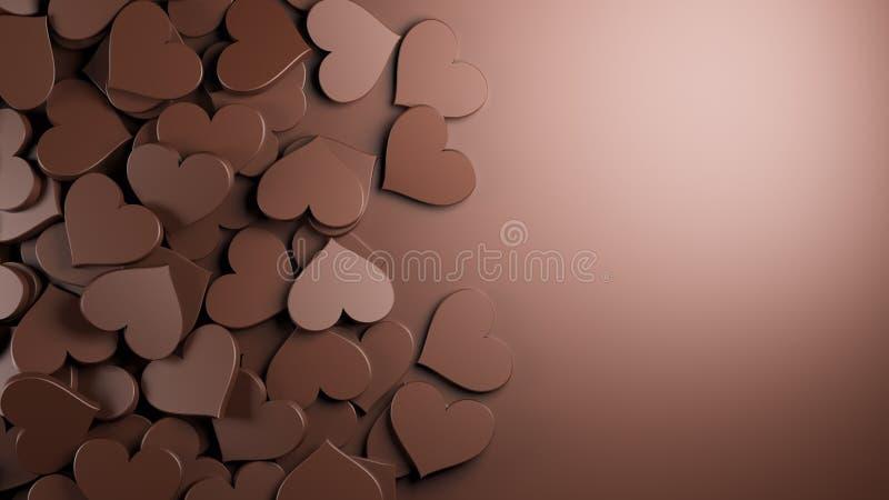 3d巧克力设计图象重点例证回报了 皇族释放例证