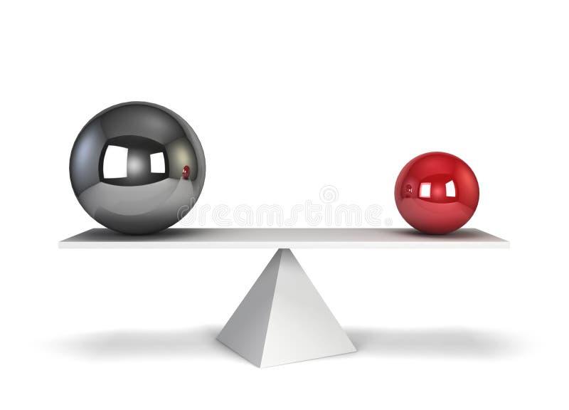 3d平衡例证回报了范围二 库存例证
