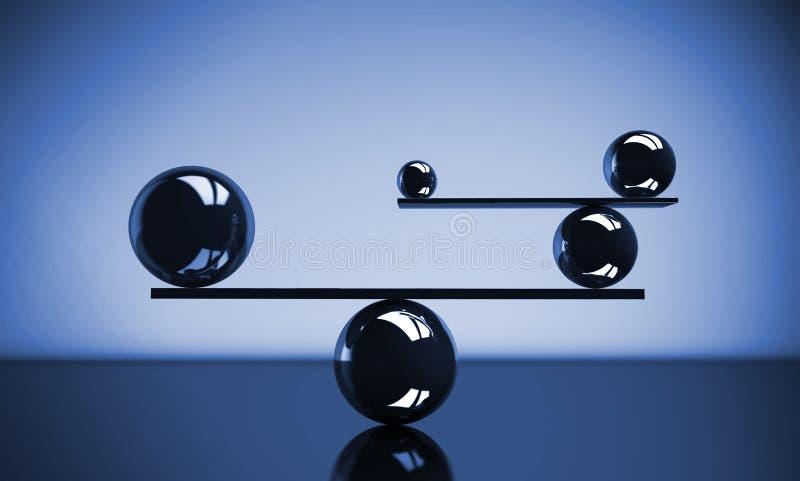 3d平衡概念照片回报了 向量例证