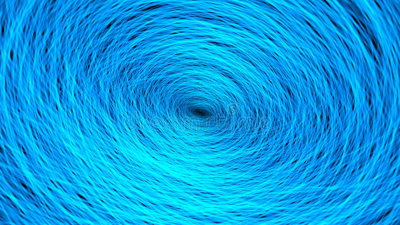 3d幻想蓝色织地不很细抽象形状翻译在有机行动的 库存例证