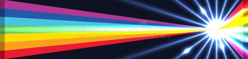 3d彩虹三角金黄比率裁减作用RGB 皇族释放例证