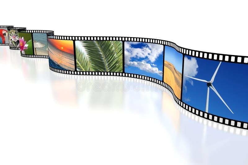3D影片磁带 皇族释放例证