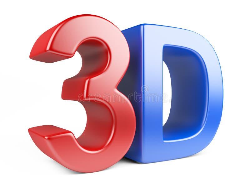 3d徽标反映 库存例证