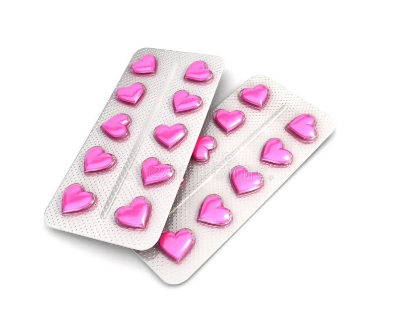 3d心脏药片片剂 向量例证