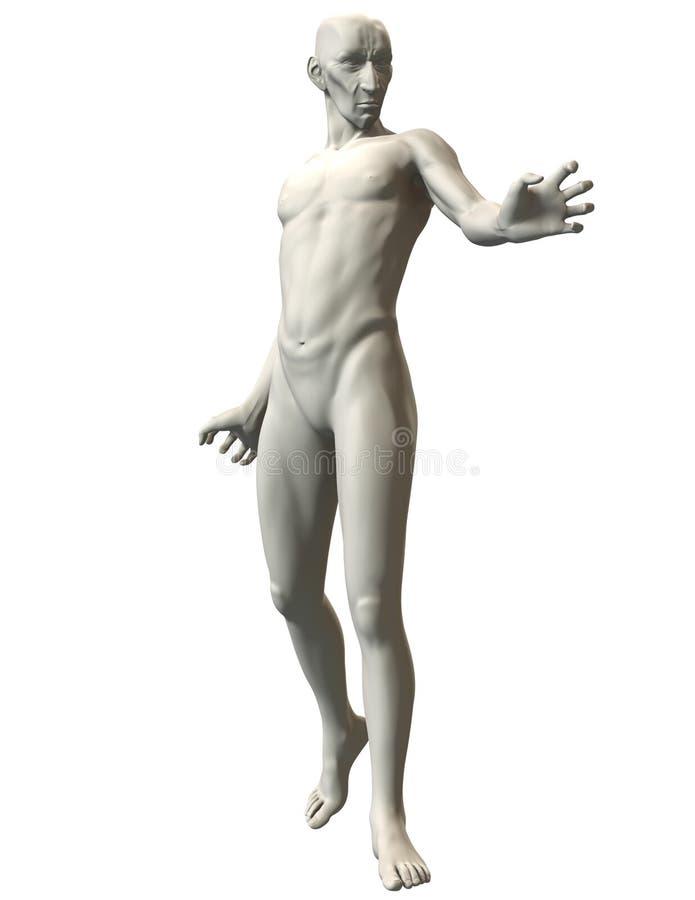 3D恶棍姿势参考力量阻气 库存图片