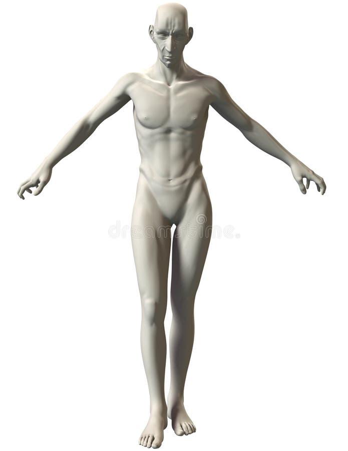 3D恶棍姿势参考无限的力量 库存照片