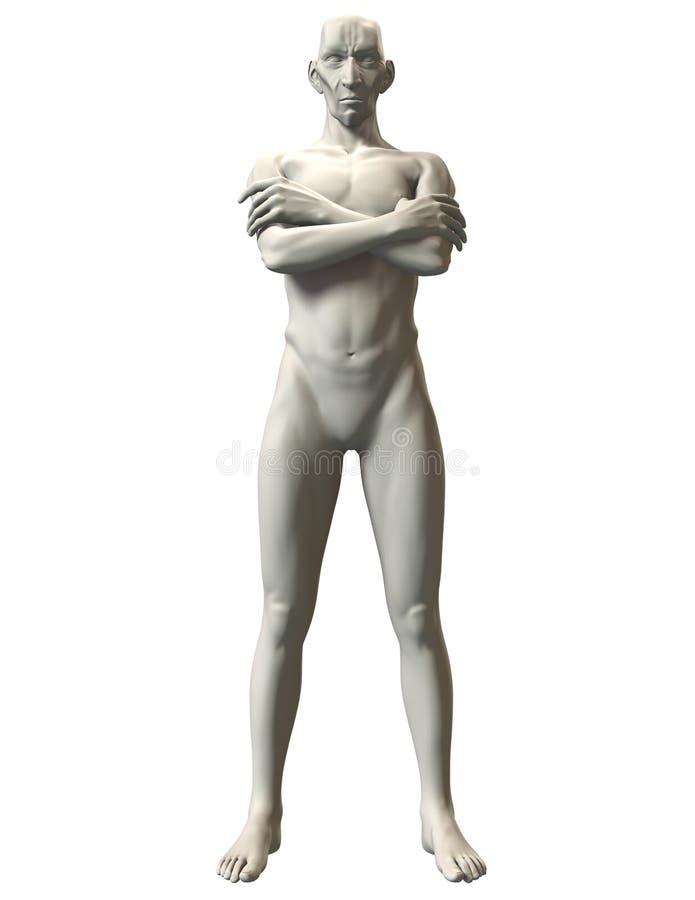 3D恶棍姿势参考霸主姿态 免版税库存图片