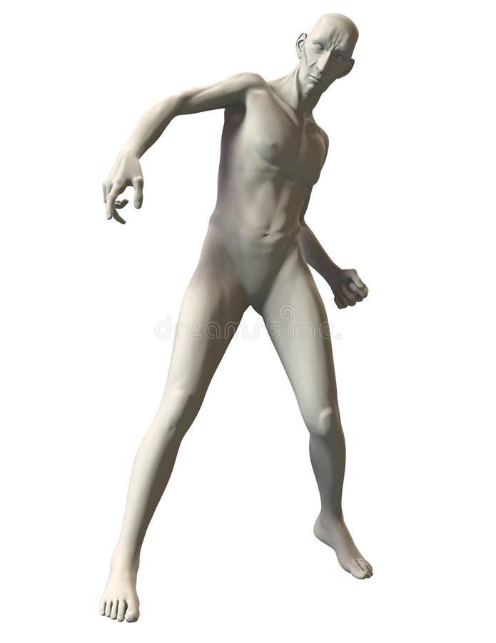 3D恶棍惊奇的姿势参考 图库摄影