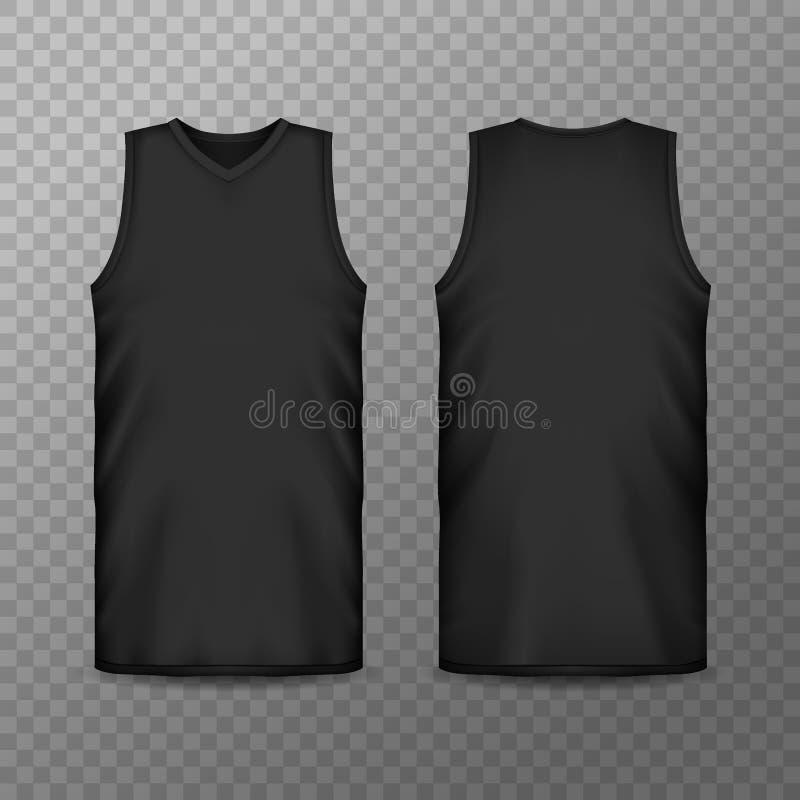 3d或现实空白的体育衣物人的 库存例证