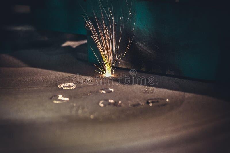 3D打印机打印金属 激光金属的焊接机器 库存照片
