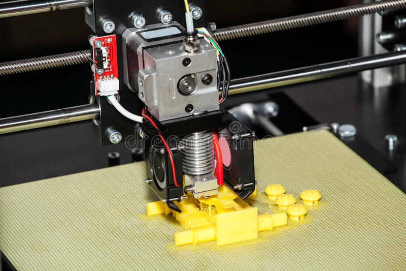 3d打印机打印 图库摄影