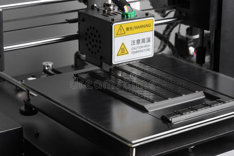 3D打印机特写镜头 库存照片