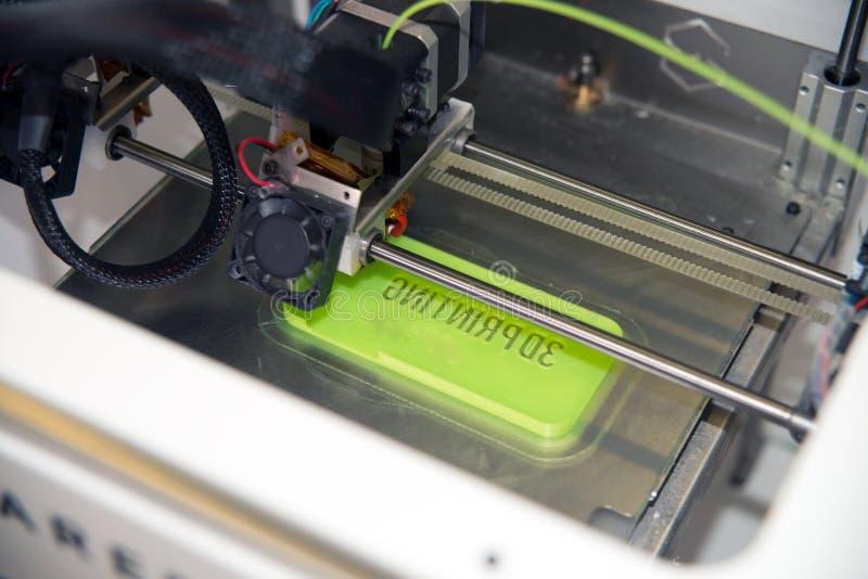 3D打印机- FDM打印 免版税库存图片