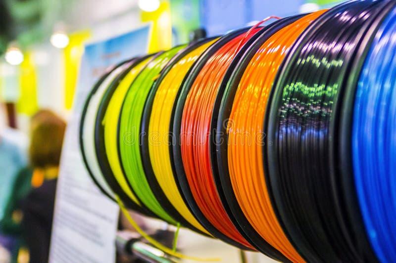 3D打印的材料 库存图片