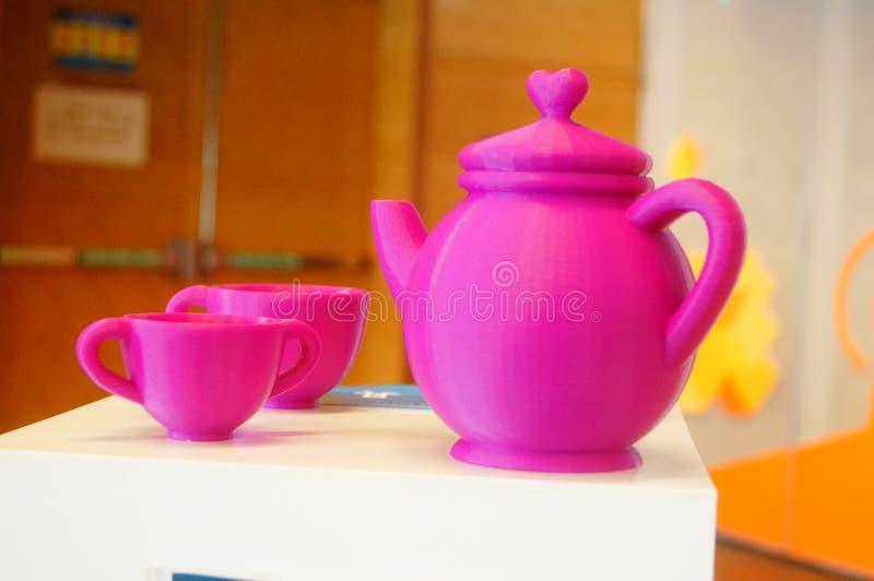 3D打印茶具 库存照片