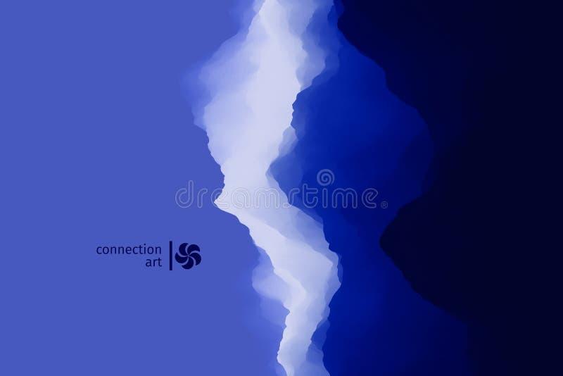 3d抽象例证向量 波浪的背景 连接艺术 设计样式 向量例证