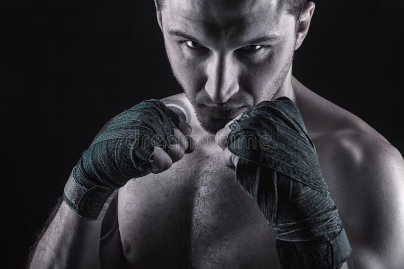 3d抽象拳击人设计 图库摄影