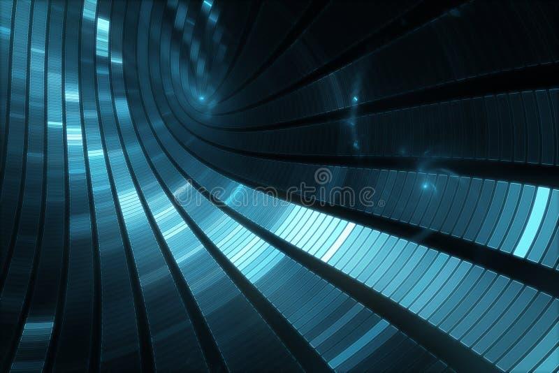 3D抽象科学小说未来派背景 皇族释放例证
