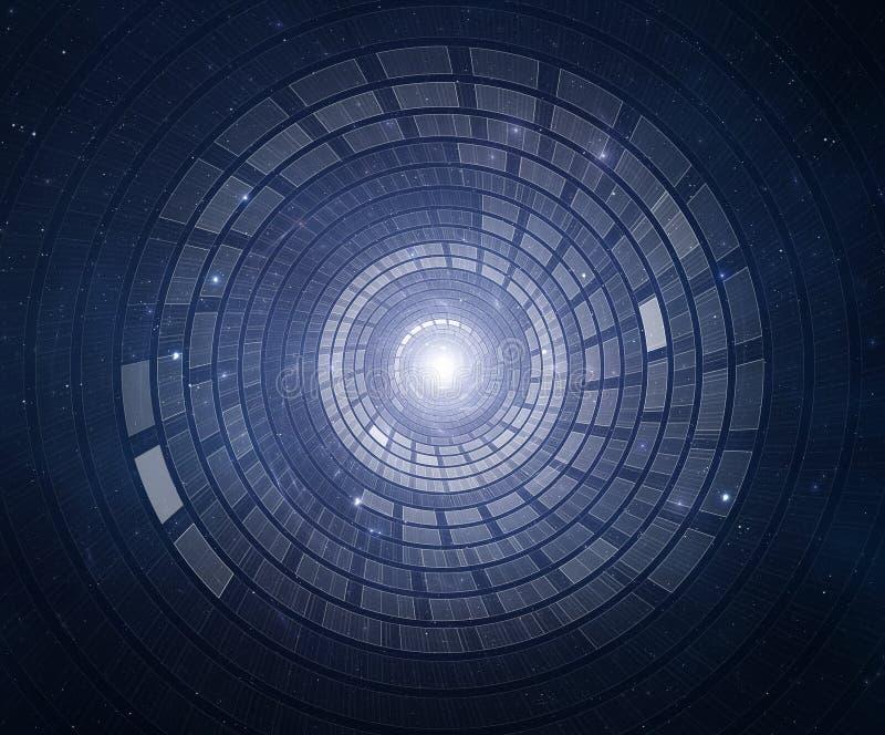 3D抽象科学小说未来派背景 向量例证