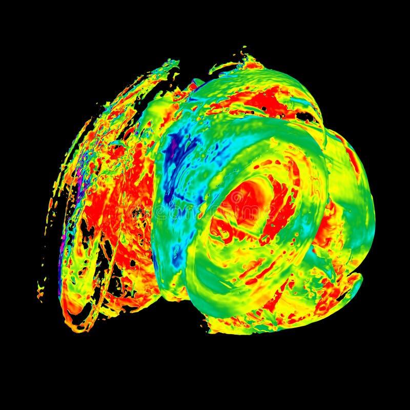 3d抽象背景回报 设计的生动的充满活力的飞溅形状 几何图表颜色艺术分数维纹理为 库存例证