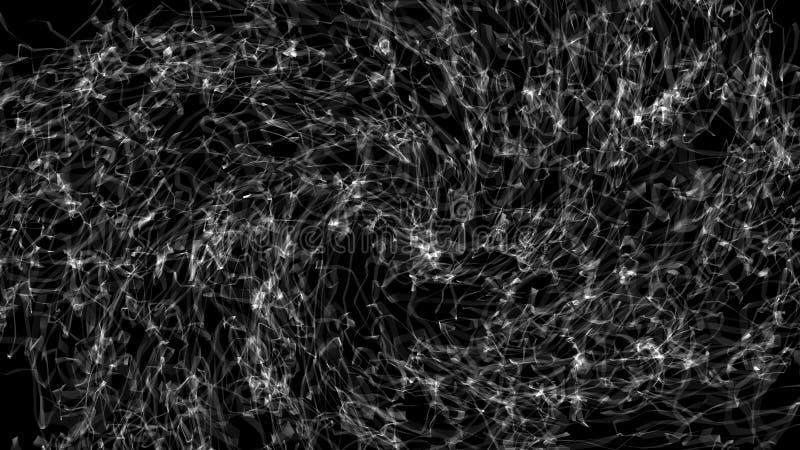 3d抽象背景翻译与与好的黑色的 向量例证