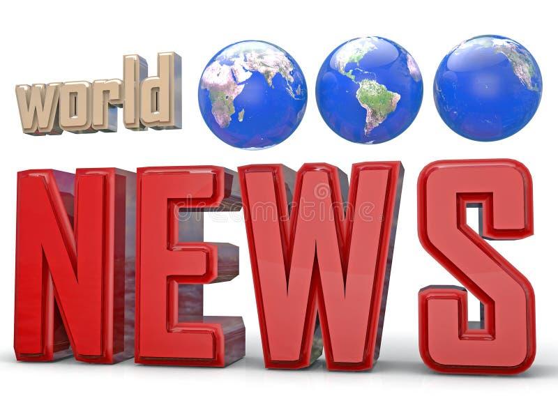 3d抽象背景蓝色图象新闻照片回报世界 向量例证