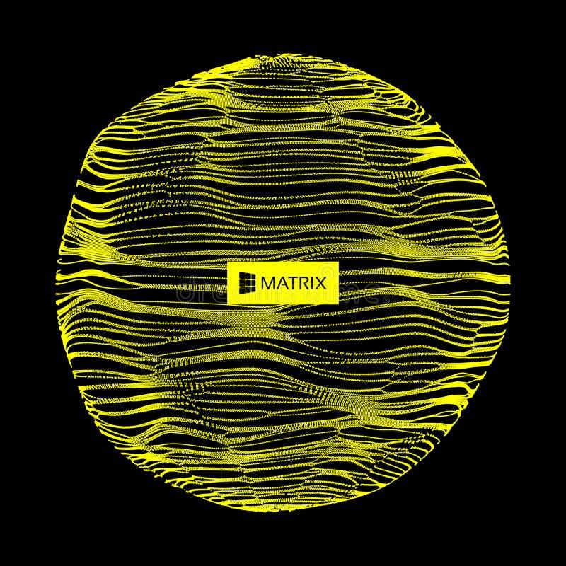 3d抽象范围 与动态微粒的列阵 现代科学技术元素 向量例证