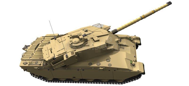 3d挑战者坦克的翻译 皇族释放例证
