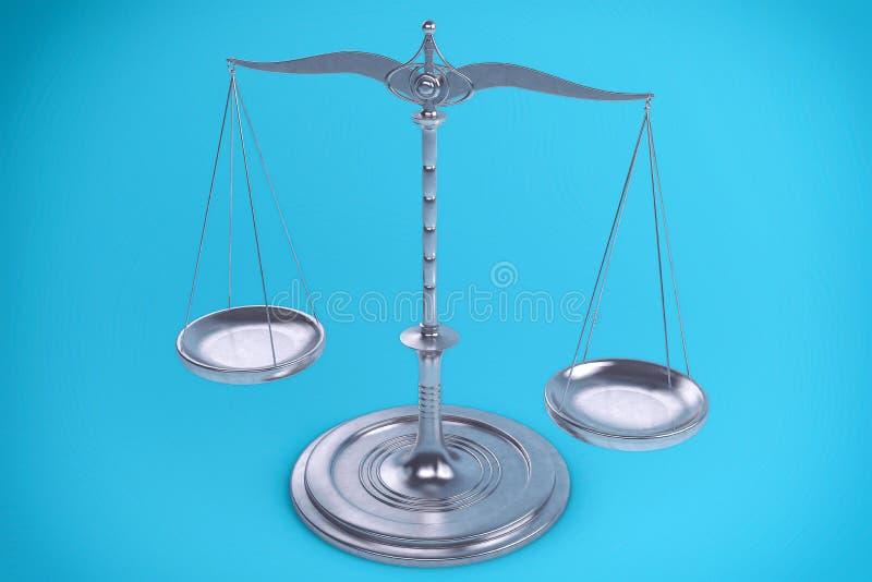 3D措施的平衡或标度背景 皇族释放例证