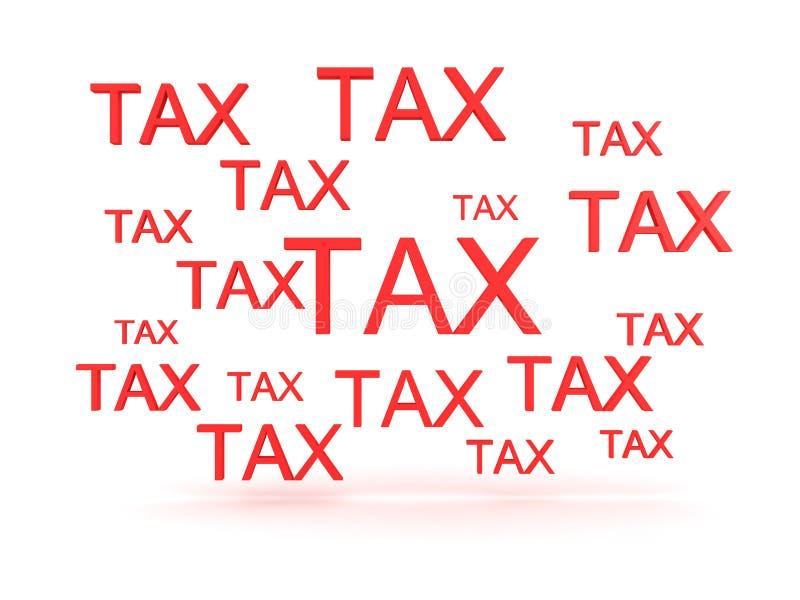 3D描述许多标志的例证说税 皇族释放例证