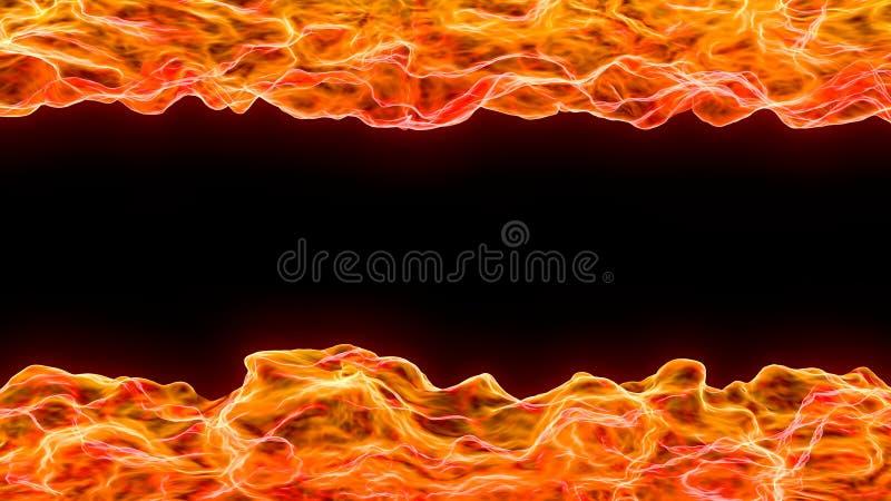 3d提取火焰和热波背景  向量例证