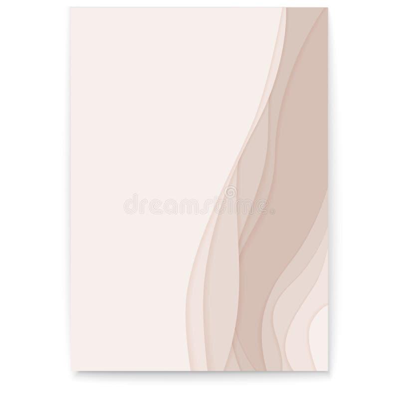 3D提取纸与多层数的裁减设计 与被删去的纸形状的传染媒介布局 与五颜六色的现代海报 库存例证