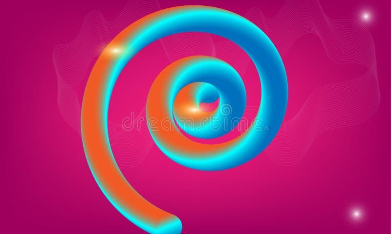 3d摘要五颜六色的液体设计 传染媒介例证时髦摘要 glowy可变的形状 向量例证