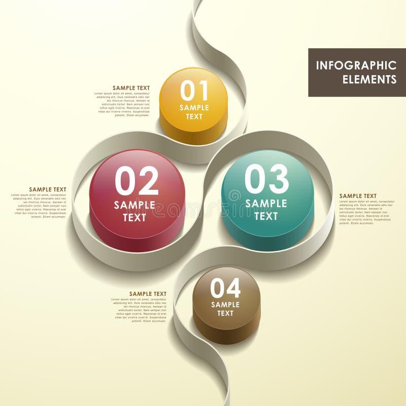 3d摘要流程图infographics 向量例证