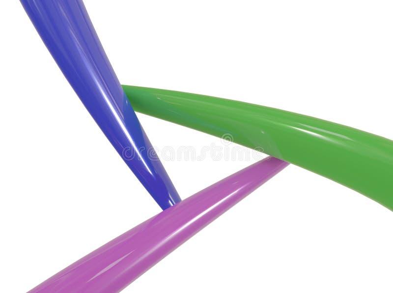 3d摘要牙管接头交叉点 3d例证 向量例证