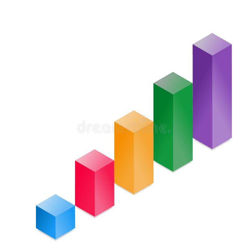 3D摘要直方图 库存例证